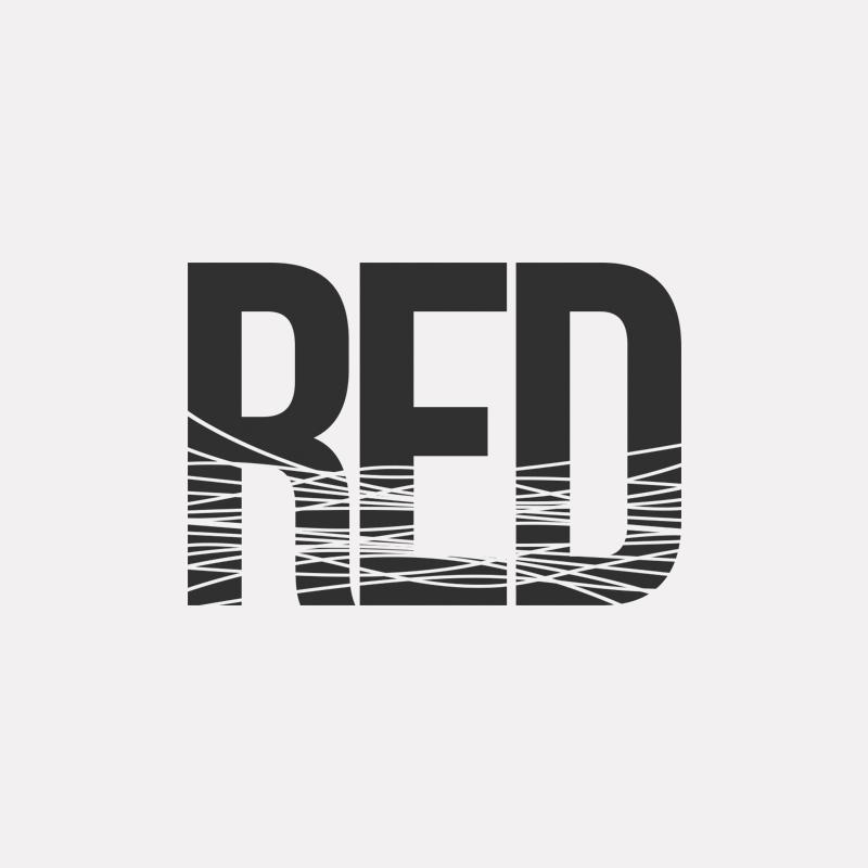 RED Haircare logo design