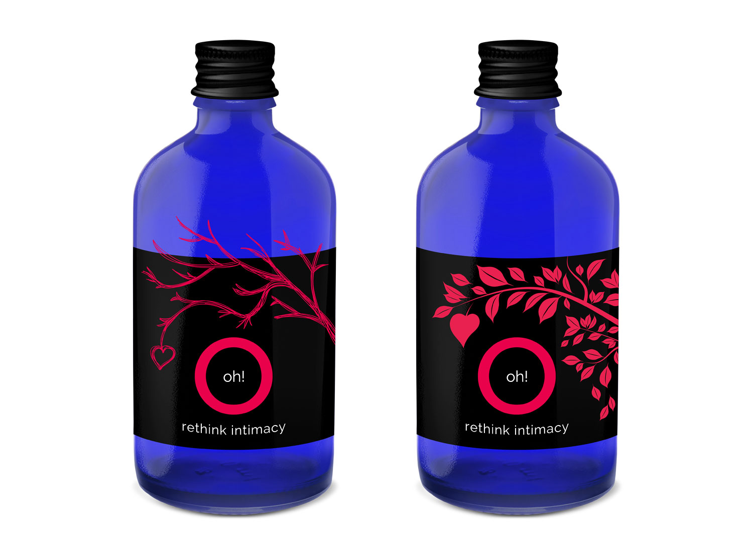 Micro bottle label design with hand-tied tag