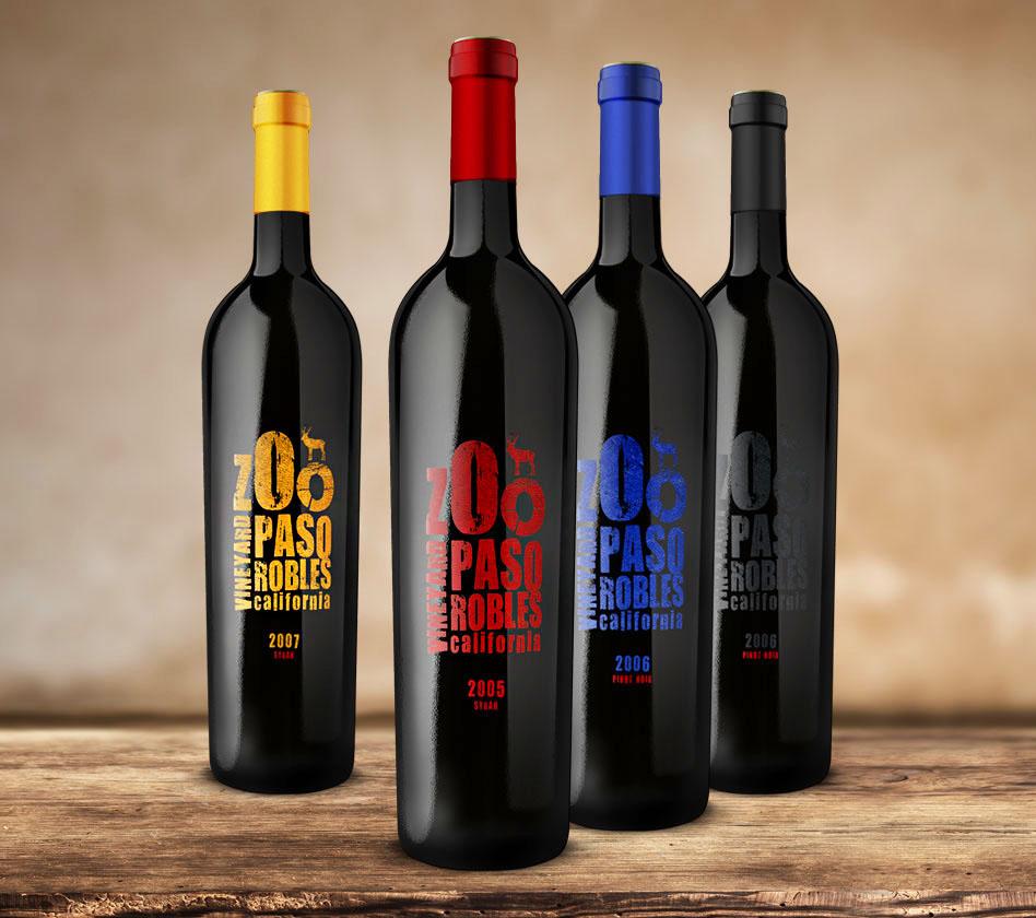 Zoo Vineyard branding wine label design packaging