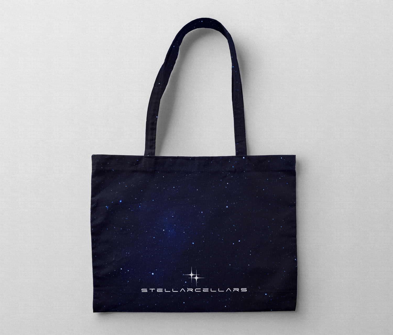 Stellar Cellars cloth tote bag