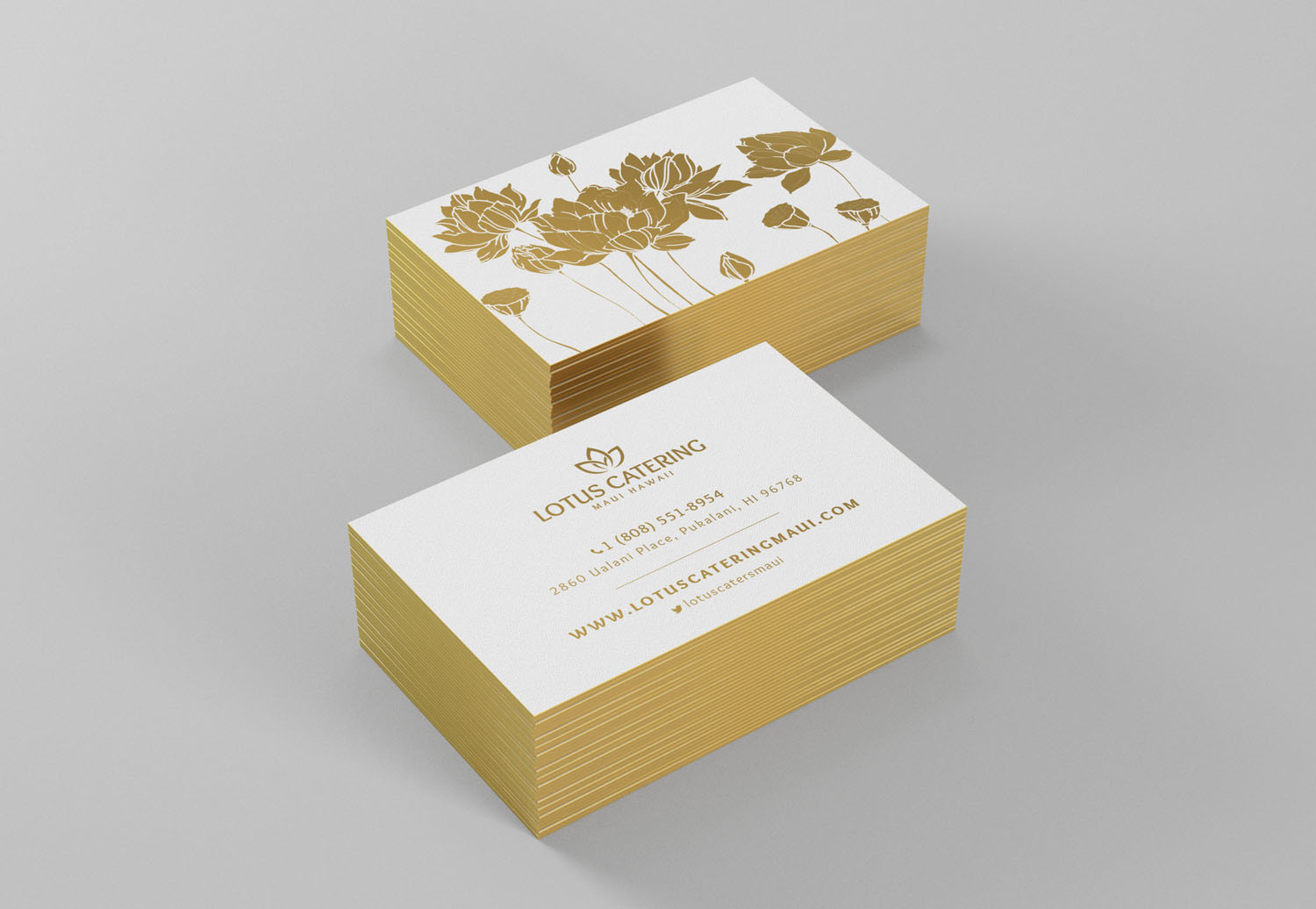 catering restaurant business card design
