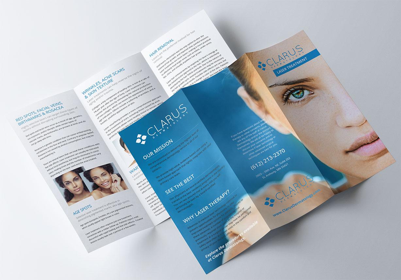 dermatologist brochure design