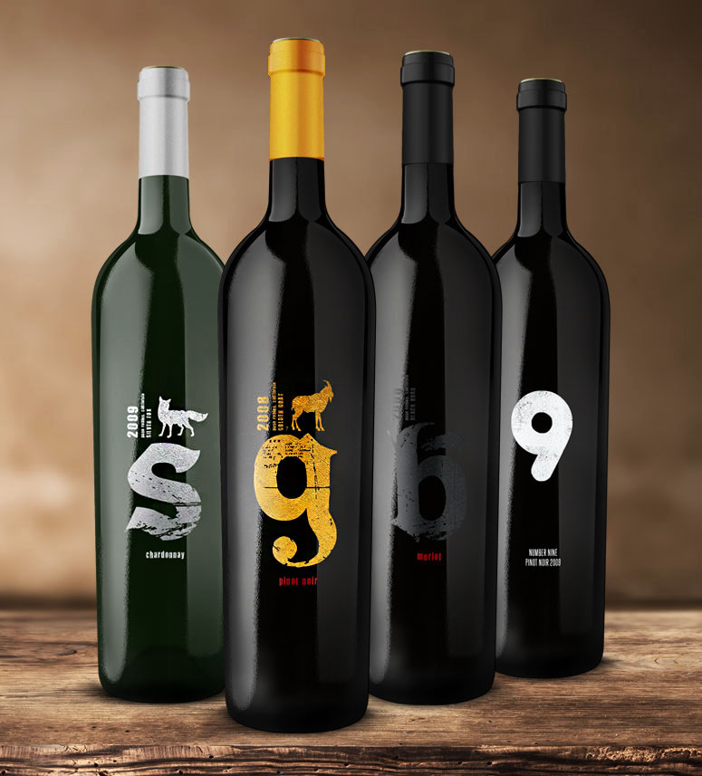 Zoo Vineyard branding wine label design packaging