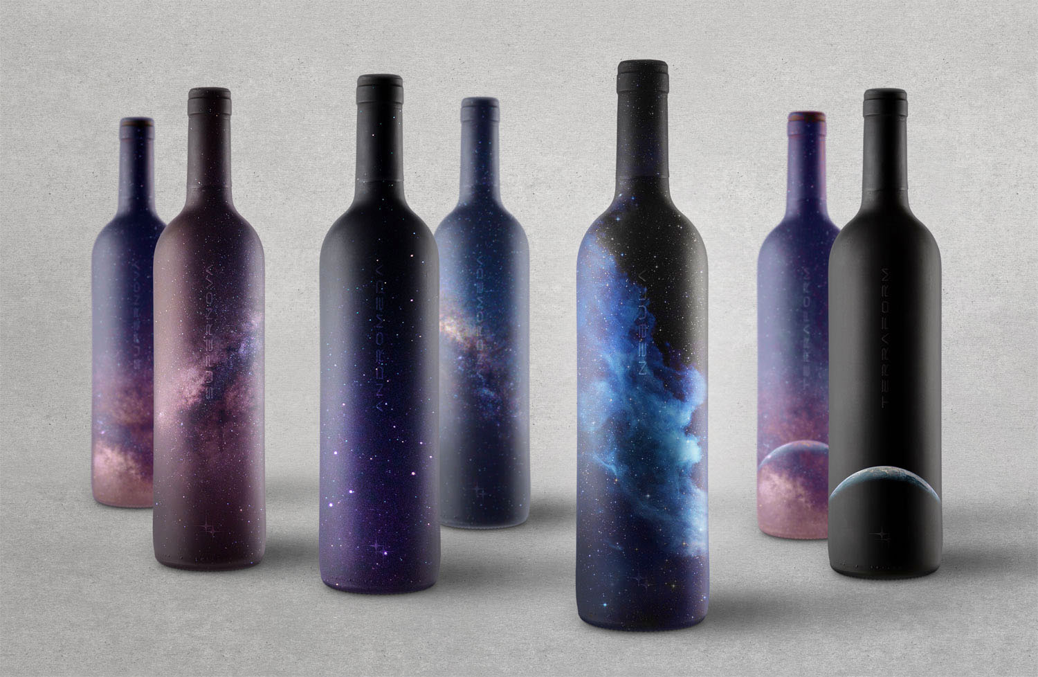 Matte and embossed wine label wraps