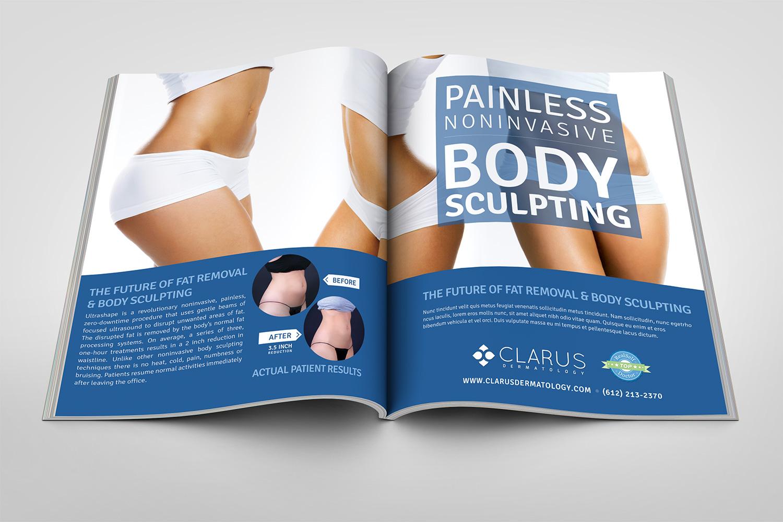dermatology magazine ad desgin