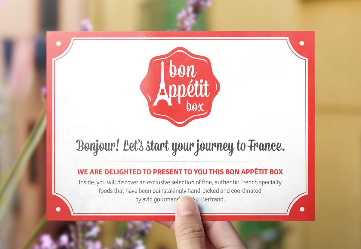 Bon Appétit Box intro card