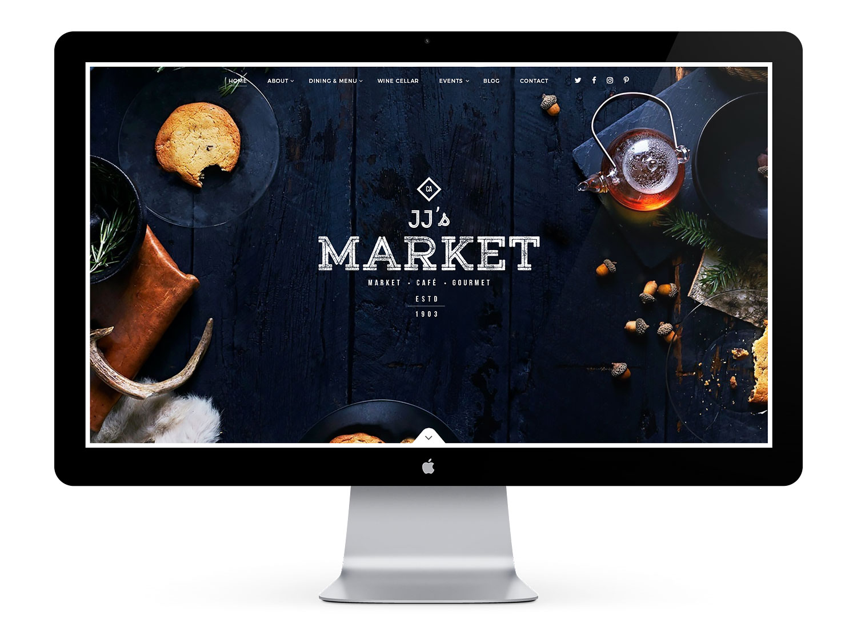 JJ's Market grocery store web designer