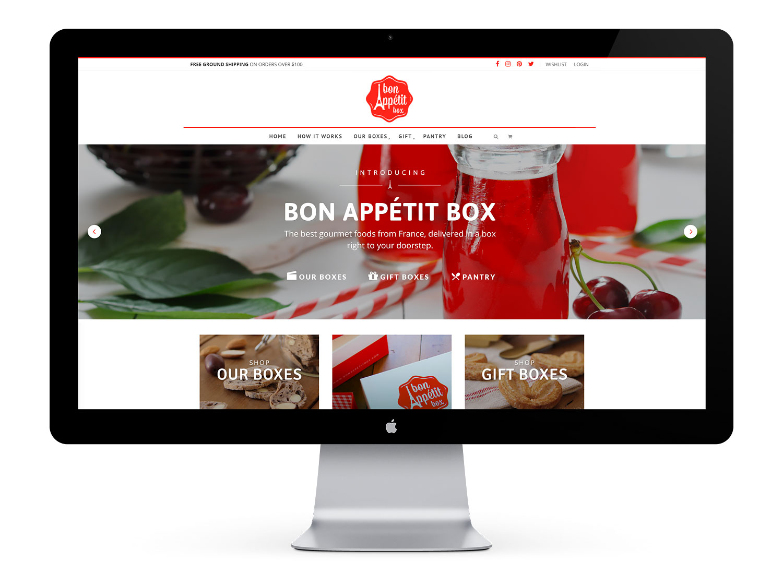 Bon Appétit Box homepage