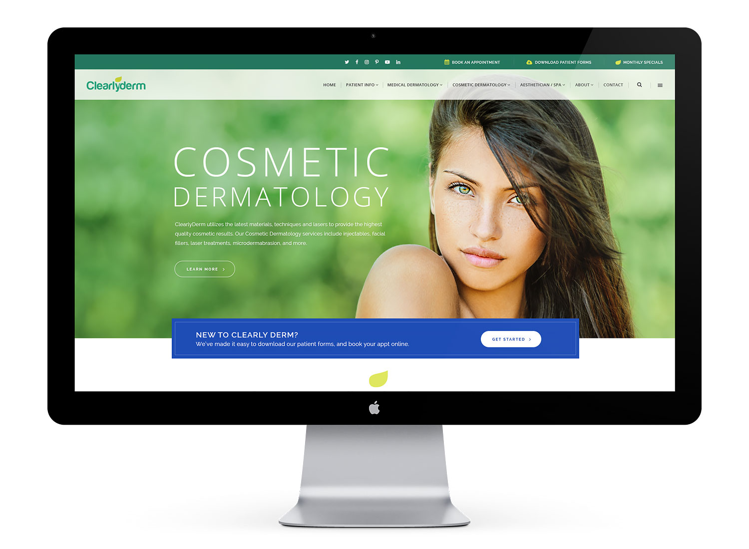 dermatologist website design development