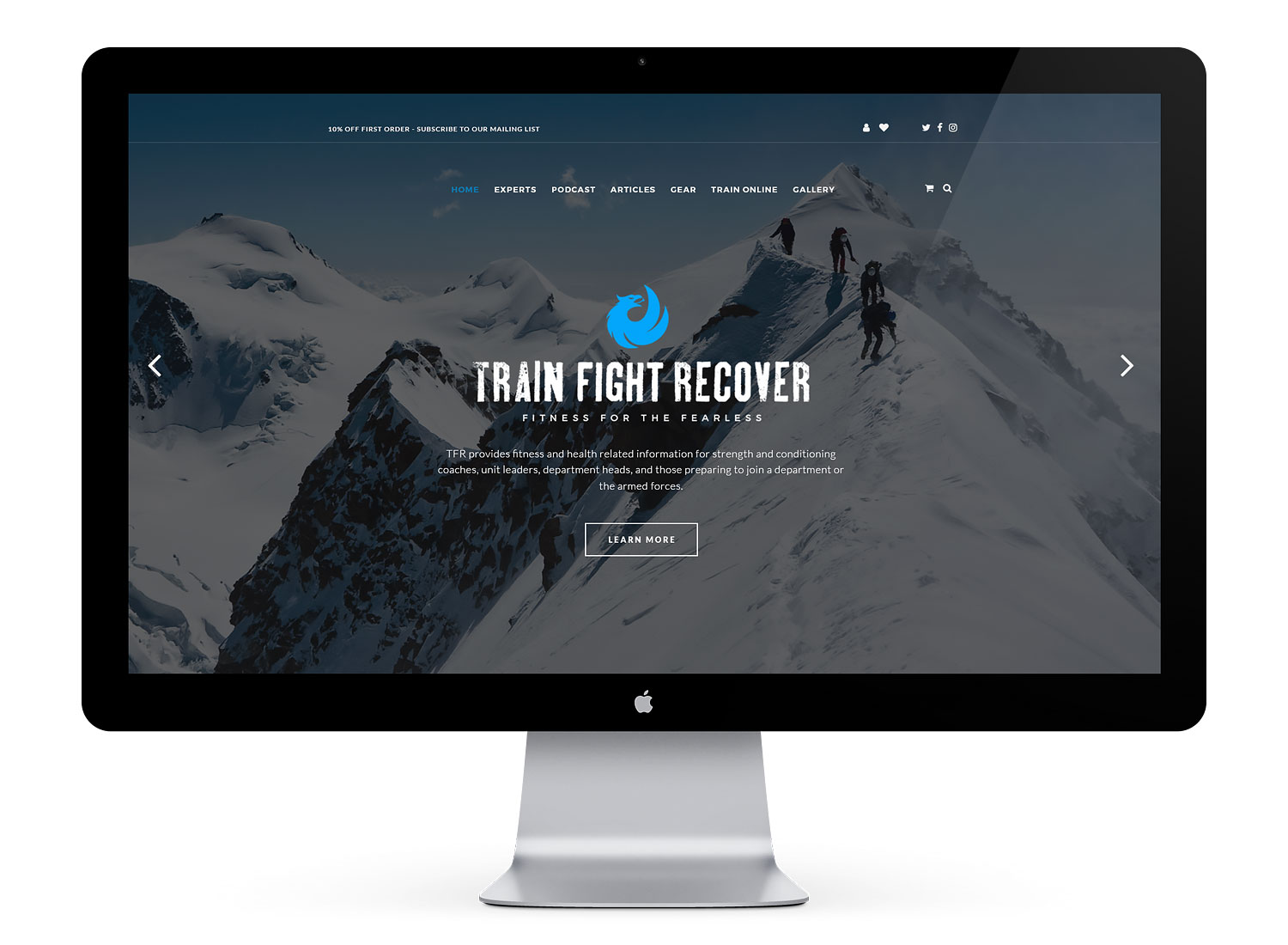 TFR military police fitness website