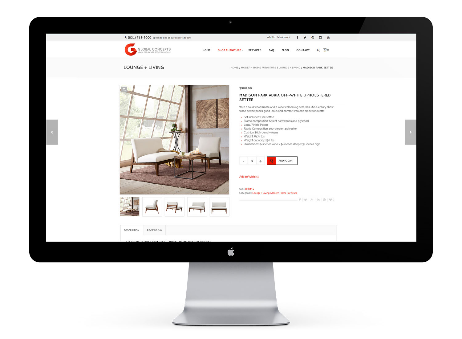 Global Concepts eco friendly furniture website
