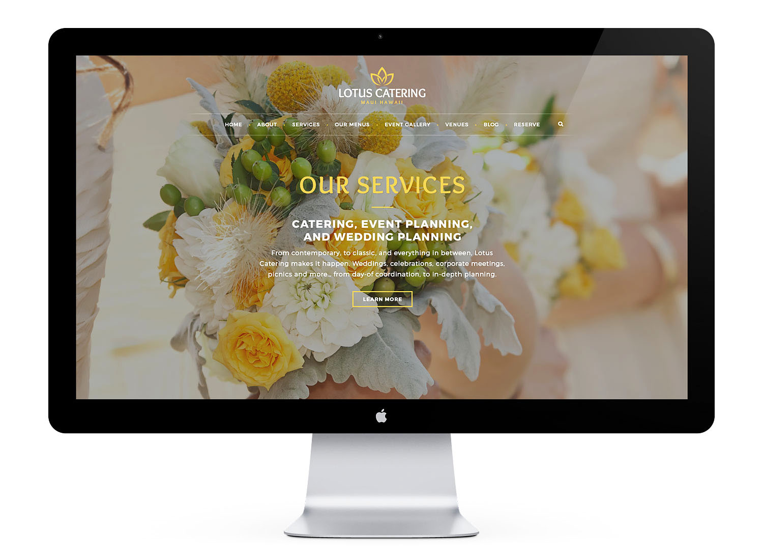 catering web design and development