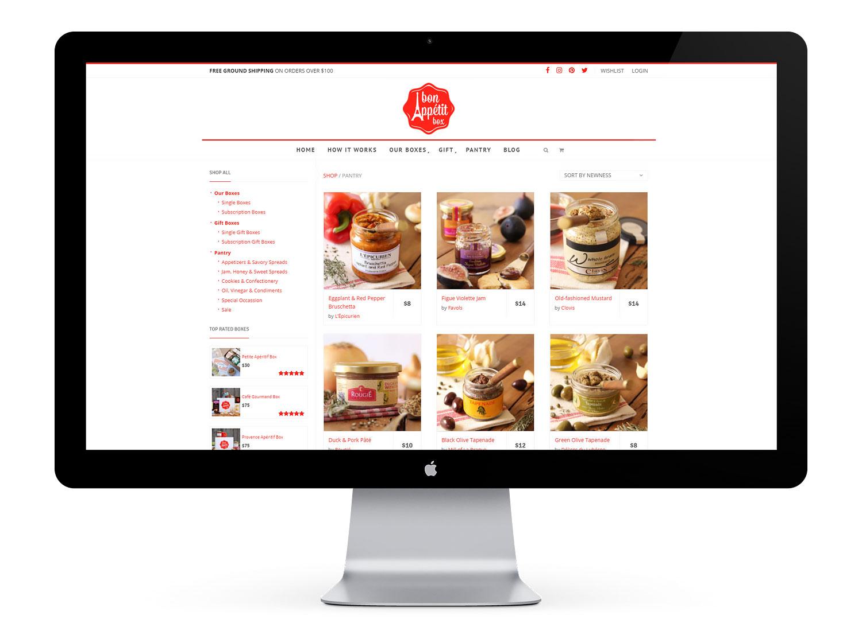 Bon Appétit Box shop archive page