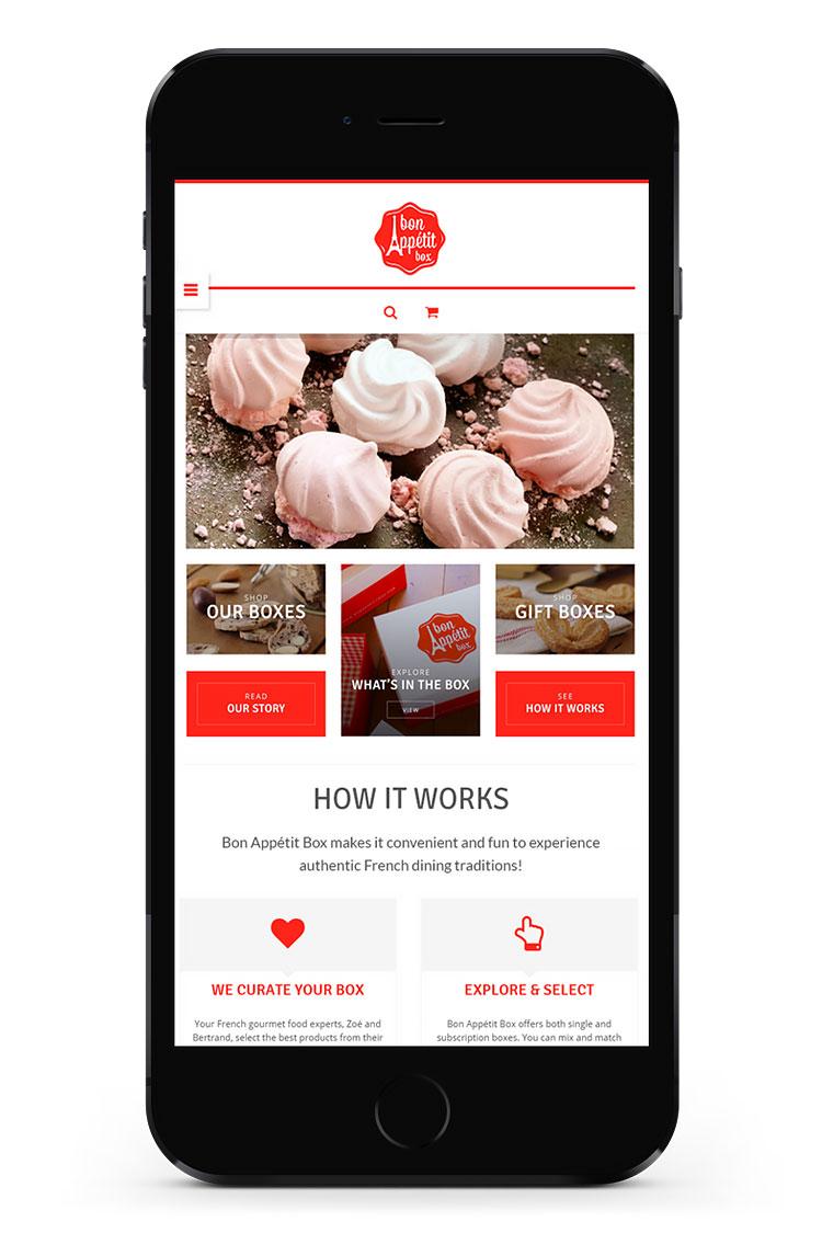 Bon Appétit Box responsive web design