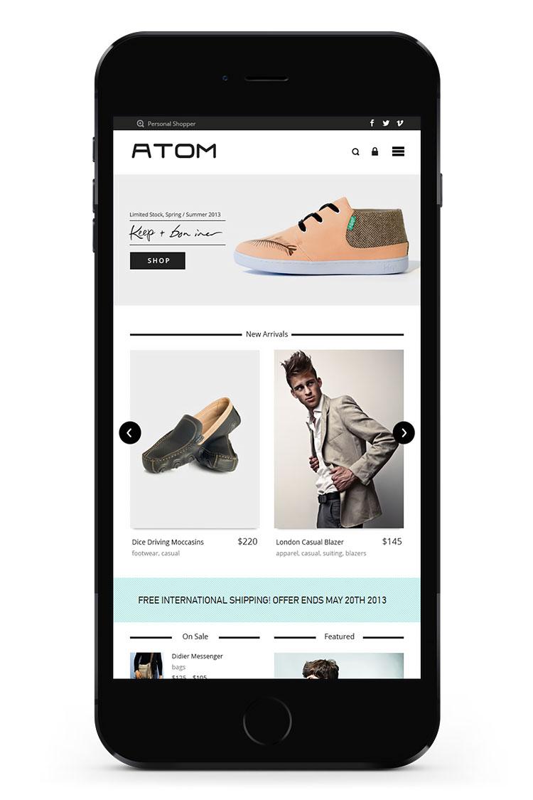 responsive woocommerce mobile website