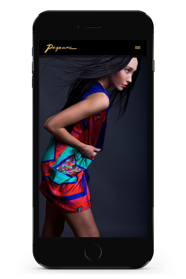 Paganne Couture mobile homepage