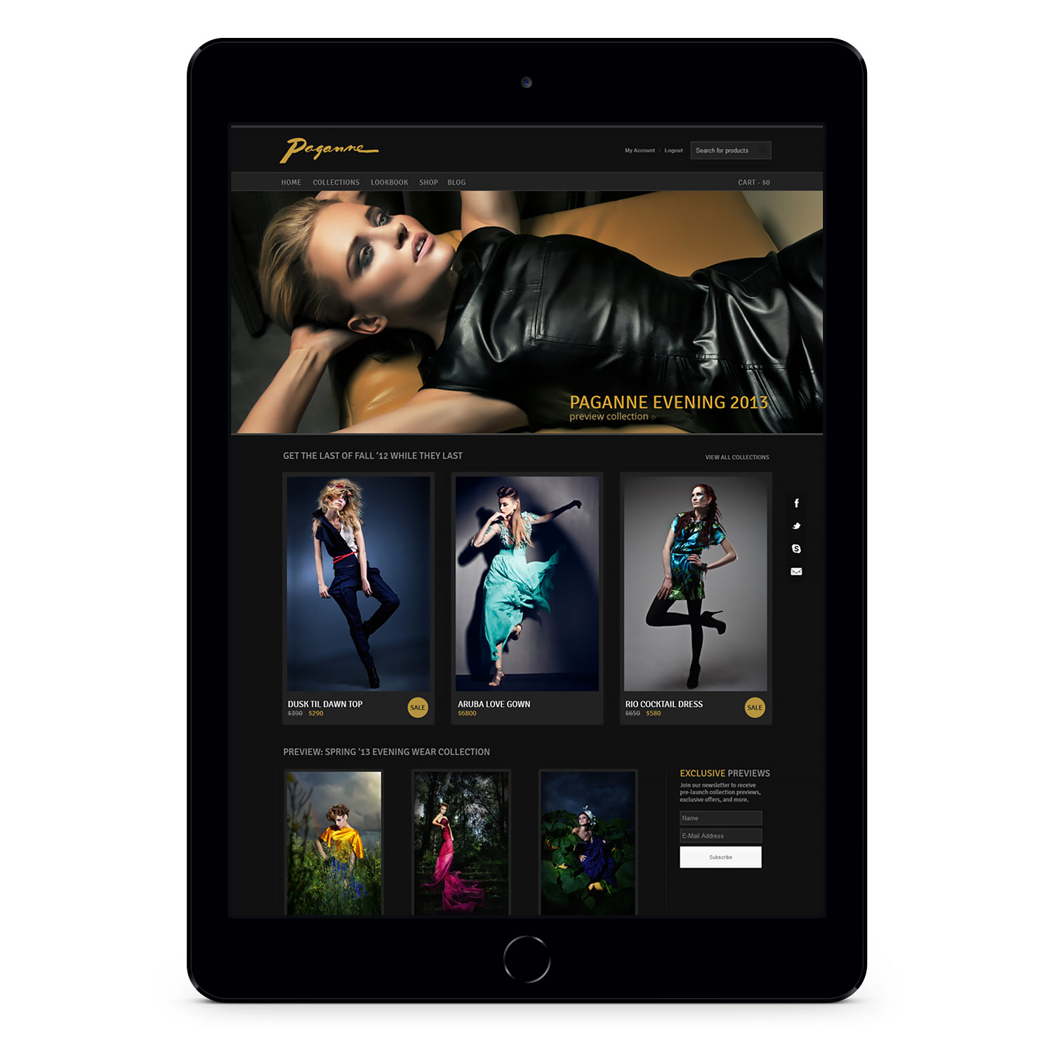 Paganne Couture mobile woocommerce shop page