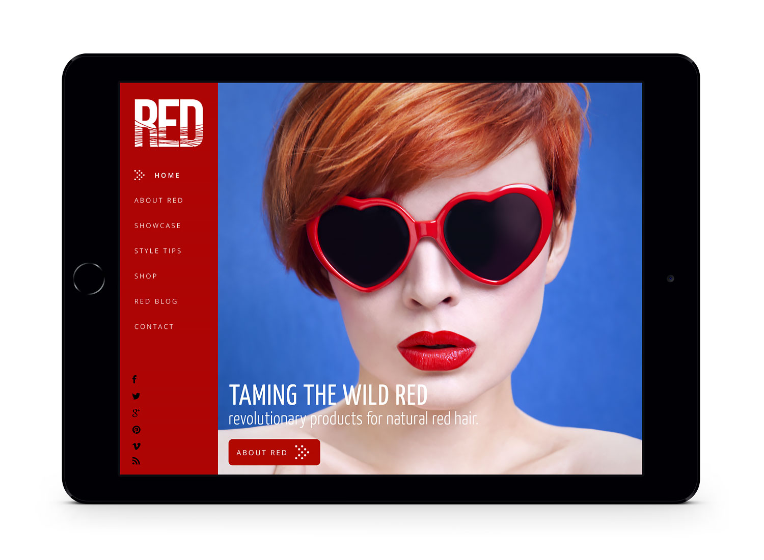RED Haircare salon website