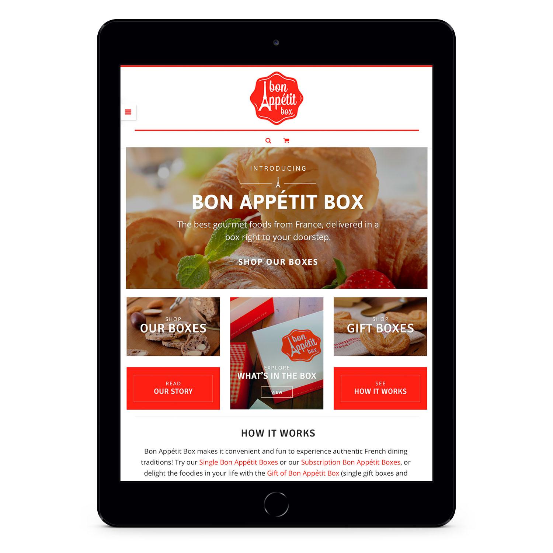 Bon Appétit Box wordpress woocommerce