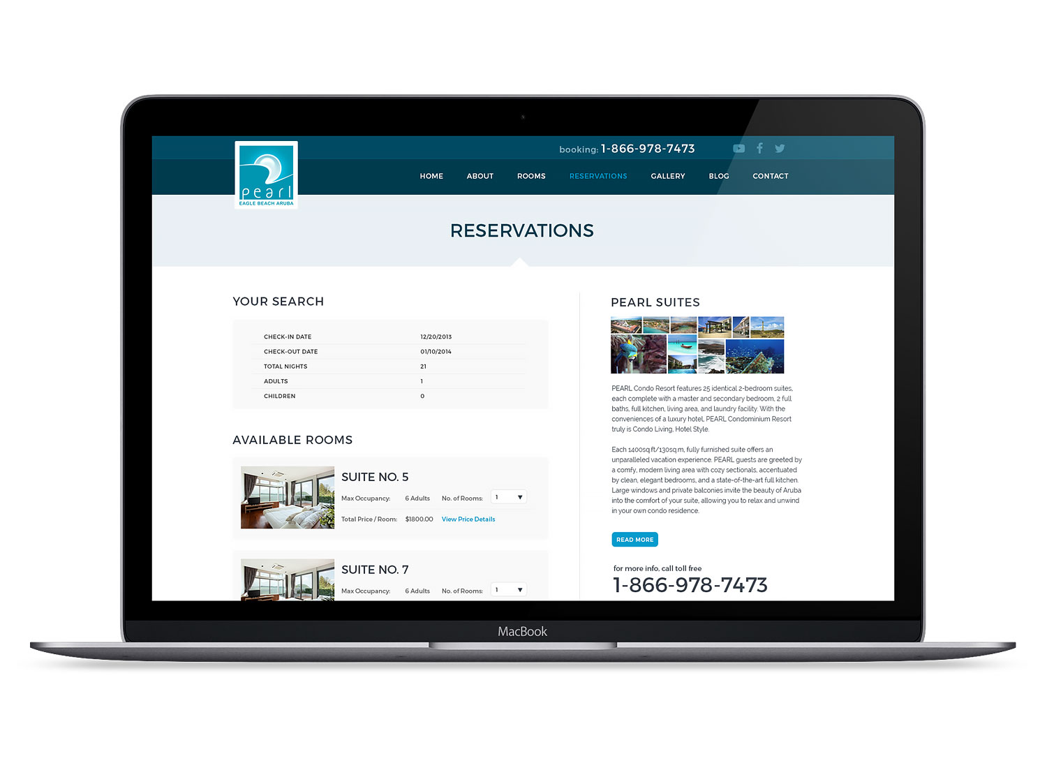 hotel reservation website