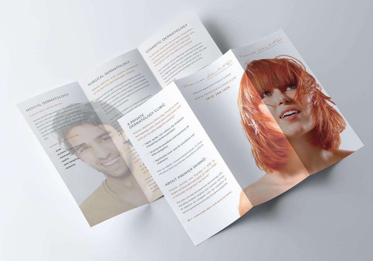 Premier SkinMD trifold brochure