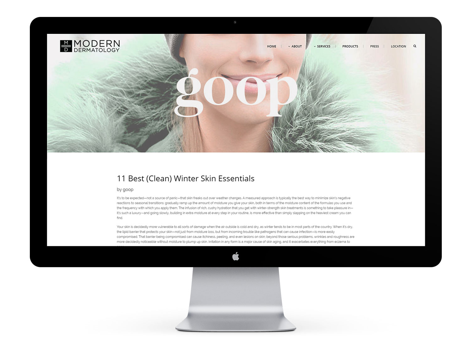 Article / blog post layout