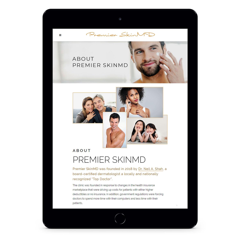 Premier SkinMD tablet view